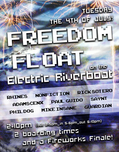 Freedom Float on the Electric River Boat - Ninja Pendants Day!