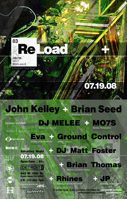 .: ReLoad + :.: Saturday Night :.: 07.19.08 :.: JK+BS+ML+M7+EV+GC+MF+RH+BT+JP